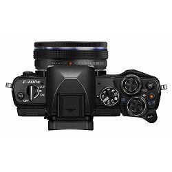 Olympus E-M10 II +14-42 EZ Black crni E-M10II Pancake Zoom Kit blk/blk 14-42mm EZ-M1442EZ black incl. Charger & Battery Micro Four Thirds OM-D Camera digitalni fotoaparat V207052BE000
