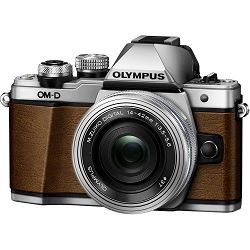 Olympus E-M10 II Body Fox Brown smeđi E-M10II Leather strap fox-brown, Silver lens cap,Charger, Rechargeable Battery, USB Cable, Video Cable & EZ-M1442 EZ fotoaparat V207056NE000