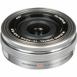 Olympus E-M10 III + 14-42mm + 40-150mm Double Zoom Pancake KIT Silver srebreni digitalni fotoaparat s objektivima 14-42 f/3.5-5.6 EZ-M4015 R Mirrorless Micro Four Thirds Digital Camera (V207074SE000)