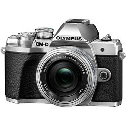Olympus E-M10 III + 14-42mm KIT Pancake Zoom Silver srebreni digitalni fotoaparat s objektivom 14-42 f/3.5-5.6 Mirrorless MFT Micro Four Thirds Digital Camera (V207072SE000)