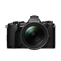Olympus E-M5 II + 12-40 PRO Black crni E-M5II 1240 Kit blk/blk Mark EZ-M1240PRO black incl. Charger, Battery + Lens Hood Micro Four Thirds OM-D Camera digitalni fotoaparat V207041BE000