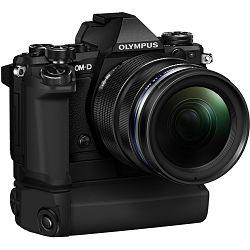 Olympus E-M5 II + 12-40 PRO Black crni E-M5II 1240 Kit blk/blk 12-40mm + HLD-8 Power Battery Holder + BLN-1 Battery Micro Four Thirds MFT - OM-D Camera digitalni fotoaparat V207041BE010