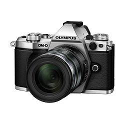 Olympus E-M5 II + 12-40 PRO Silver srebreni E-M5II 1240 Kit slv/blk Mark EZ-M1240PRO black incl. Charger, Battery + Lens Hood Micro Four Thirds OM-D Camera digitalni fotoaparat V207041SE000