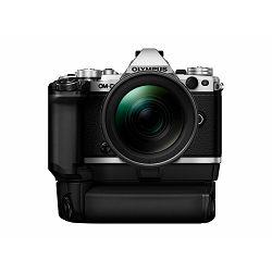 Olympus E-M5 II + 12-40 PRO Silver srebreni E-M5II 1240 Kit slv/blk 12-40mm + HLD-8 Power Battery Holder + BLN-1 Battery Micro Four Thirds MFT - OM-D Camera digitalni fotoaparat V207041SE010