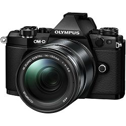 Olympus E-M5 II + 14-150 Black crni E-M5II 1415II Kit blk/blk + EZ-M1415-2 14-150mm black incl. Charger + Battery + Lens Hood Micro Four Thirds OM-D Camera digitalni fotoaparat V207043BE000