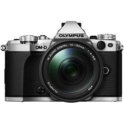 Olympus E-M5 II + 14-150 Silver srebreni E-M5II 1415II Kit slv/blk Mark EZ-M1415-2 black incl. Charger + Battery + Lens Hood Micro Four Thirds OM-D Camera digitalni fotoaparat V207043SE000