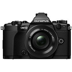 Olympus E-M5 II 14-42 Pancake Zoom Kit blk/blk E-M5 Mark II black + EZ-M1442EZ black incl. Charger & Battery Mirrorless Micro Four Thirds MFT - OM-D Camera digitalni fotoaparat V207044BE000