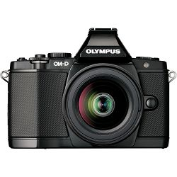 Olympus E-M5 II + 12-50mm Black crni E-M5II 1250 Kit blk/blk 12-50 E-M5 Mark II + EZ-M1250 black incl. Charger + Battery Micro Four Thirds MFT - OM-D Camera digitalni fotoaparat V207042BE000