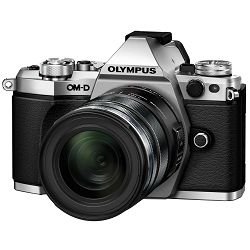 Olympus E-M5 II + 12-50mm Silver srebrenii E-M5II 1250 Kit blk/blk 12-50 E-M5 Mark II + EZ-M1250 black incl. Charger + Battery Micro Four Thirds MFT - OM-D Camera digitalni fotoaparat V207042SE000