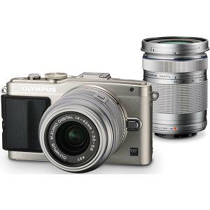 Olympus E-PL6 Body silver + EZ-M1442 II R silver & EZ-M4015 R silver incl. Charger + Battery 14-42mm 40-150 Micro Four Thirds MFT - PEN Camera digitalni fotoaparat V205052SE000