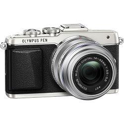 Olympus E-PL7 + 14-42mm 1:3.5-5.6 EZ + 45mm 1.8 Srebreni E-PL7 Portrait Kit Silver/silver PEN Camera digitalni fotoaparat V205070SE020
