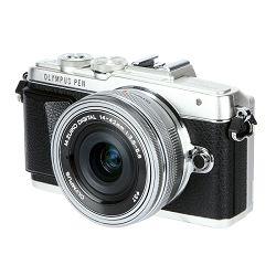 Olympus E-PL7 + 14-42mm 1:3.5-5.6 EZ + 45mm 1.8 Srebreni E-PL7 Flatlay/Portrait Kit Silver/silver Micro Four Thirds MFT - PEN Camera digitalni fotoaparat V205073SE010