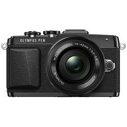 Olympus E-PL7 + 14-42mm Pancake Zoom Kit blk/blk E-PL7 black + EZ-M1442EZ black - incl. Charger & Battery 14-42 Micro Four Thirds MFT - PEN Camera digitalni fotoaparat V205073BE001