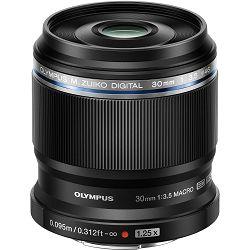 Olympus M. Zuiko Digital 30mm f/3.5 ED Premium macro objektiv fiksne žarišne duljine EM-M3035 BLK 30 1:3.5 prime lens Micro Four Thirds MFT micro4/3