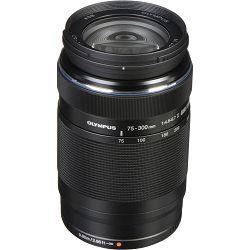 Olympus M. Zuiko Digital 75-300mm f/4.8-6.7 ED II Black telefoto objektiv EZ-M7530-2 75-300 1:4.8-6.7 zoom lens Micro Four Thirds MFT micro4/3