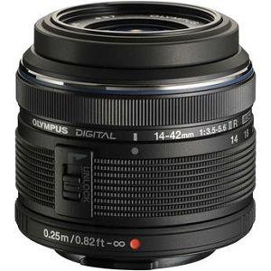 Olympus M.ZUIKO DIGITAL 14-42mm 1:3.5-5.6 II R / EZ-M1442 II R black Micro Four Thirds MFT - PEN Camera objektiv lens lenses V314050BE000