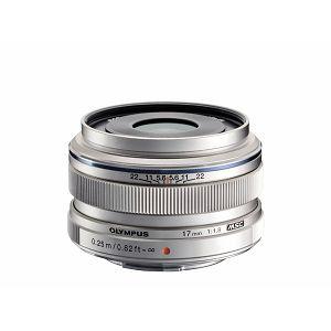 Olympus M.ZUIKO DIGITAL 17mm 1:1.8 / EW-M1718 silver Micro Four Thirds MFT - PEN Camera objektiv lens lenses V311050SE000