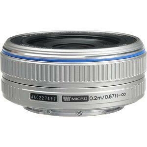 Olympus M.ZUIKO DIGITAL 17mm 1:2.8 Pancake / EW-M1728 silver Micro Four Thirds MFT - PEN Camera objektiv lens lenses N3593592
