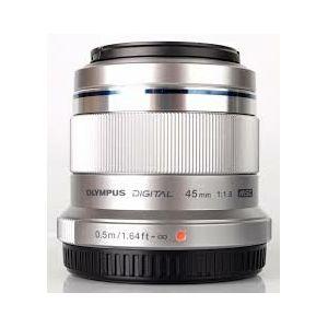 Olympus M.ZUIKO DIGITAL 45mm 1:1.8 / ET-M4518 silver Micro Four Thirds MFT - PEN Camera objektiv lens lenses V311030SE000