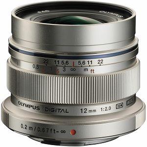Olympus M.ZUIKO DIGITAL  ED 12mm 1:2.0 / EW-M1220 silver Micro Four Thirds MFT - PEN Camera objektiv lens lenses V311020SE000