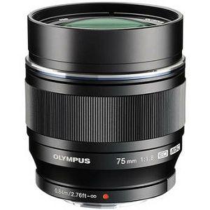 Olympus M.ZUIKO DIGITAL ED 75mm 1:1:8 / ET-M7518  black Micro Four Thirds MFT - PEN Camera objektiv lens lenses V311040BE000