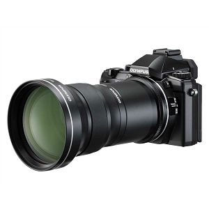 Olympus STYLUS 1 Black TCON Kit - Stylus 1 + CLA-13 x TCON17X digitalni kompaktni fotoaparat V109011BE000