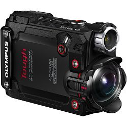 Olympus TG-Tracker Black - 7.2MP 204° ultra-wide, waterproof, shockproof, cushproof, freezeproof, 4K 60p, 5-Axis, Time Lapse Movie WiFi GPS digitalni kompaktni vodootporni fotoaparat V104180BE000