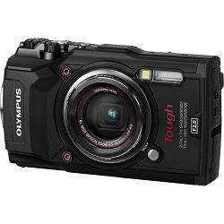 Olympus Tough TG-5 Black crni WiFi GPS 4K video 120p 12MP 25-100mm f2.0 Digitalni podvodni vodonepropusni fotoaparat (V104190BE000)