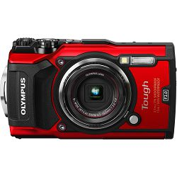 Olympus Tough TG-5 + LG-1 KIT Red crveni WiFi GPS 4K video 120p 12MP 25-100mm f2.0 Digitalni podvodni vodonepropusni fotoaparat (V104190RE030)