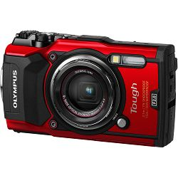 Olympus Tough TG-5 Red crveni WiFi GPS 4K video 120p 12MP 25-100mm f2.0 Digitalni podvodni vodonepropusni fotoaparat (V104190RE000)