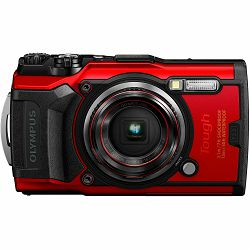Olympus Tough TG-6 Red crveni WiFi GPS 4K video 120p 12MP TG6 podvodni vodonepropusni digitalni fotoaparat (V104210RE000)