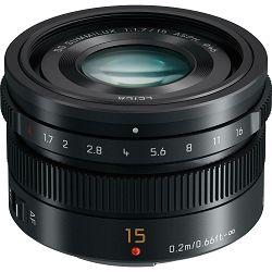 Panasonic 15mm f/1.7 Asph Black Leica DG Summilux širokokutni objektiv za Micro Four Thirds MFT micro4/3