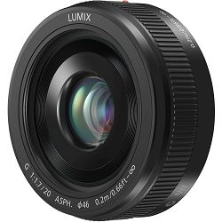 Panasonic 20mm f/1.7 II Asph Black Lumix G Pancake standardni objektiv za Micro Four Thirds MFT micro4/3