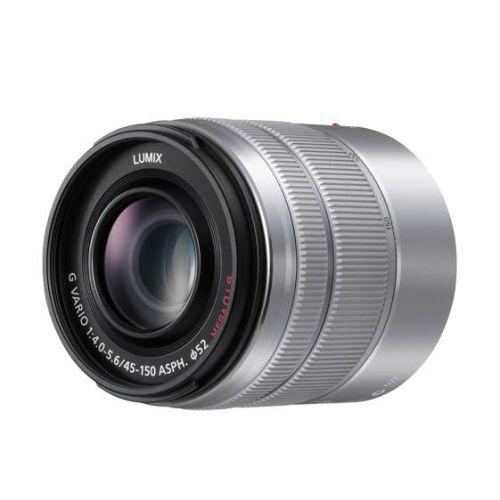 Panasonic 45-150mm f/4-5.6 Asph Mega O.I.S. Silver srebreni telefoto objektiv Lumix G Vario 45-150 4.0-5.6 (H-FS45150E-S)