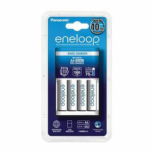 Panasonic Eneloop BASIC punjač + 4xAA Eneloop punjive baterije K-KJ18MCC40E