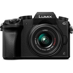 Panasonic Lumix G7 + 14-42mm f/3.5-5.6 Asph Mega O.I.S. Silver 4K Mirrorless bezrcalni digitalni fotoaparat DMC-G7KEG DMC-G7 s objektivom G Vario 14-42 Micro Four Thirds Digital Camera (DMC-G7KEG-S)