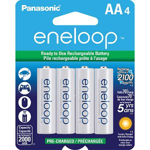 Panasonic Sanyo Eneloop 4xAA ready to use B4 BK-3MCCE4BE punjive baterije