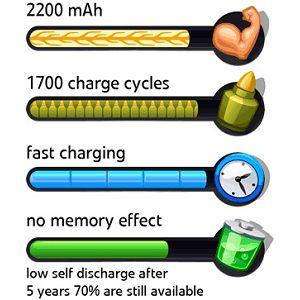 Patona 4xAA 2200 mAh punjive baterije + kutijica (mignon LR6)