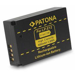 Patona baterija za Canon LP-E12 800mAh 7.2V 5.8Wh za Canon EOS M50 EOS M100, EOS 100D, EOS M, Rebel SL1