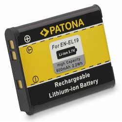 Patona baterija za Nikon EN-EL19 600mAh 3.7V 2.2Wh Coolpix S2500 S3100 S4100 Lithium-Ion Battery Pack