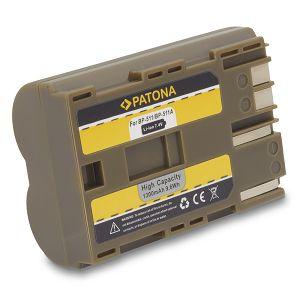 Patona BP-511 1300mAh 9.6Wh 7.4V baterija za Canon EOS 300D, 20D, 20Da, 30D, 40D, 50D, 5D, D30, D60, Digital Rebel, Optura Xi, PowerShot G1, G2, G3, G5, G6, Pro 1, Pro 90 IS Lithium-Ion Battery Pack