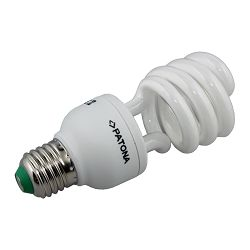 Patona Compact fluorescent half spiral lamp E27 20W 52x133mm 230V 1380lm 2700K A+ warmwhite milkcover ceramic body