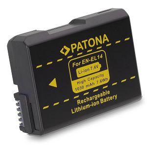 Patona EN-EL14 baterija za Nikon D5600, D5500, D5300, D5200, D5100, D3400, D3300, D3200, D3100, Df, Coolpix P7800, P7700, P7100, P7000