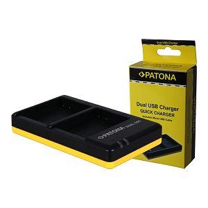 Patona EN-EL14 Dual Quick-Charger punjač za Nikon ENEL14 D5500, D5300, D5200, D5100, D3300, D3200, D3100 + Micro USB kabel