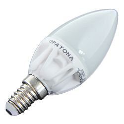 Patona LED E14 candle SMD 2835 5W 99x37mm 450lm 6500K 230V/50-60Hz A+ 280 warmwhite milkcover ceramic body