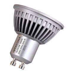 Patona LED GU10 SMD 2835 6W 50x55mm 3000K 230V 560lm A+ 120 warmwhite milkcover aluminium body class B