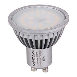 Patona LED GU10 SMD 2835 6W 50x55mm 6500K 230V 560lm A+ 120 coldwhite milkcover aluminium body class B