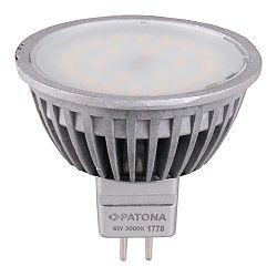 Patona LED MR16 SMD 2835 50x50mm 6W 230V 3000K 5600lm A+ 120 warmwhite milkcover aluminium body Class B