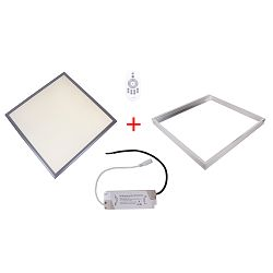 Patona LED panel 600x600x9 frame trasnformer 36W 3300lm 4000-4500K natur white AC 200-240V Frame dimmable Transformer complet set 60x60x0,9cm