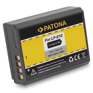 Patona LP-E10 baterija za EOS 1100D, 1200D, 1300D Lithium-Ion Battery Pack 860mAh 7.4V LPE10